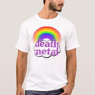 T-shirt Chemise mignonne d'arc-en-ciel en métal de la mort