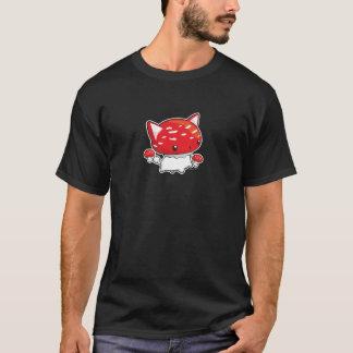 T-shirt Chemise mignonne de champignon de chat de