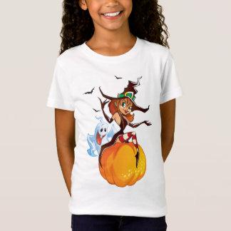 T-Shirt Chemise mignonne de Halloween de sorcière