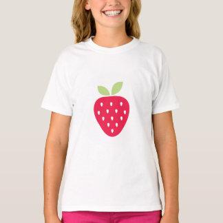 T-shirt Chemise mignonne de Valentine de fraise d'enfants