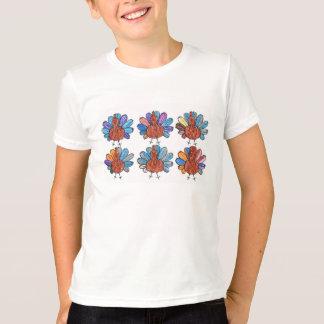 T-shirt Chemise mignonne d'enfants de dindes de crayon