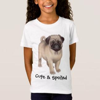 T-Shirt Chemise mignonne et corrompue de carlin de filles