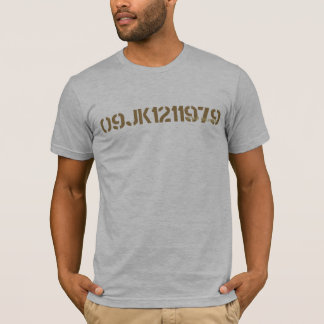 T-shirt Chemise militaire 2 de pochoir