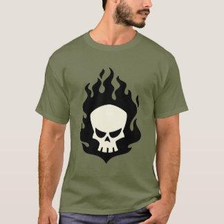 T-shirt Chemise noire de crâne de flamme