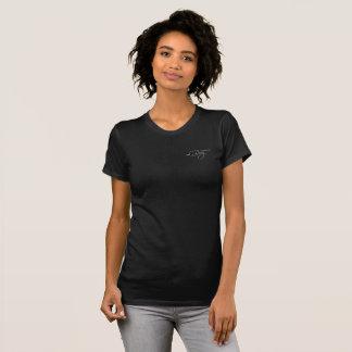 T-shirt chemise noire de LRuiz des femmes