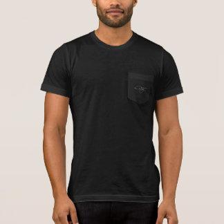 T-shirt Chemise noire de poche