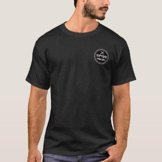 T-shirt Chemise noire et blanche de légion romaine de SPQR