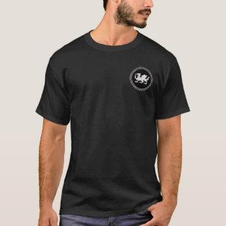 T-shirt Chemise noire et blanche de Saxon anglo de joint
