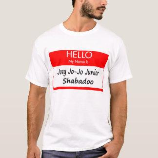 """T-shirt Chemise nommée d'étiquette de """"Joey Jo-Jo"""""""
