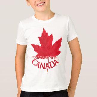 T-shirt Chemise nommée faite sur commande de feuille