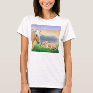 T-shirt Chemise norvégienne de Babydoll de chevaux de