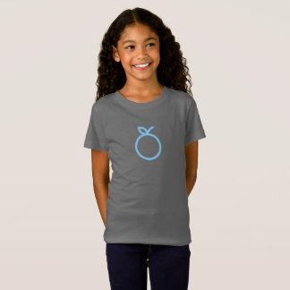 T-Shirt Chemise orange bleue simple d'icône