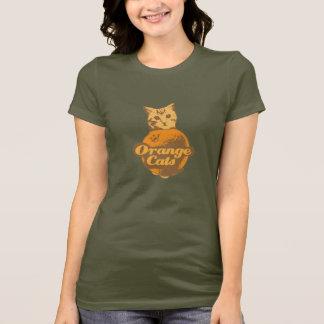 T-shirt Chemise orange de chats