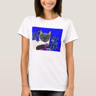 T-shirt chemise peinte à la main détaillée lumineuse de