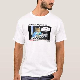 T-shirt Chemise personnalisable de chat de clavier
