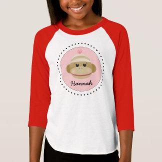 T-shirt Chemise personnalisée par fille idiote de singe de