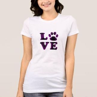 T-shirt Chemise pourpre d'amour de chien ou de chat