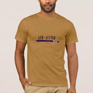 T-shirt chemise pourpre de ceinture de bjj