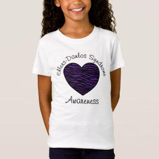 T-Shirt Chemise pourpre de coeur de zèbre de conscience
