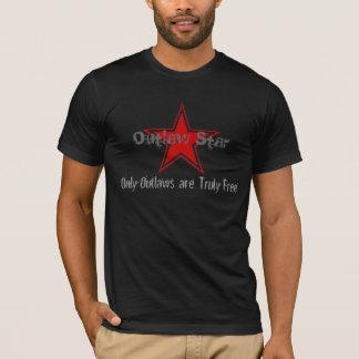 T-shirt Chemise proscrite de Corp. d'étoile (foncée)