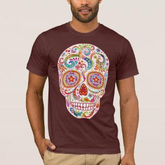 T-shirt Chemise psychédélique de crâne de sucre