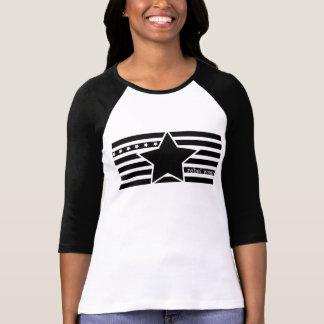 T-shirt Chemise rebelle de raglan de dames de logo d'usage
