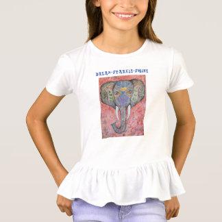 T-shirt Chemise rêveuse de ruche de filles d'éléphant