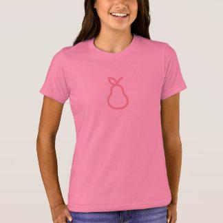 T-shirt Chemise rose simple d'icône de poire
