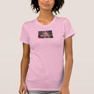 T-shirt Chemise rose tropicale de flamant
