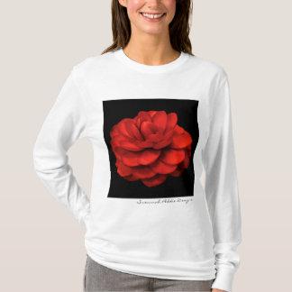 T-shirt Chemise rouge de camélia