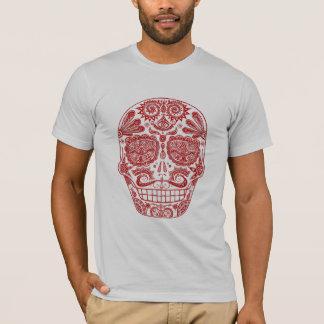 T-shirt Chemise rouge de crâne de sucre