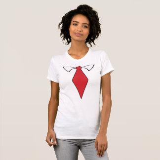 T-shirt Chemise rouge de cravate