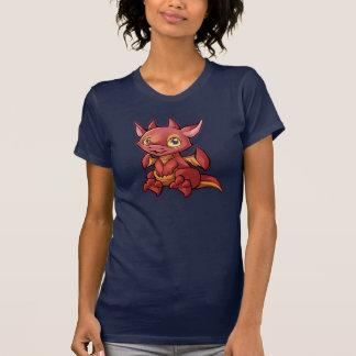 T-shirt Chemise rouge de dragon de Chibi