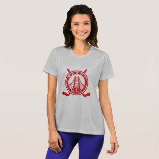 T-shirt Chemise rouge de représentation de logo