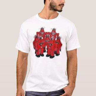 T-shirt Chemise rouge de robots