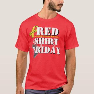 T-shirt Chemise rouge vendredi