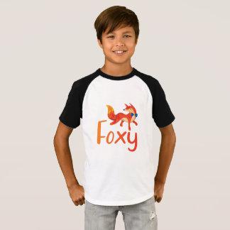 T-shirt Chemise rusée élégante avec le Fox illustré
