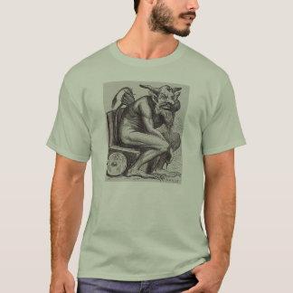 T-shirt Chemise se reposante de démon