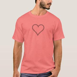 T-shirt Chemise simple d'icône de coeur