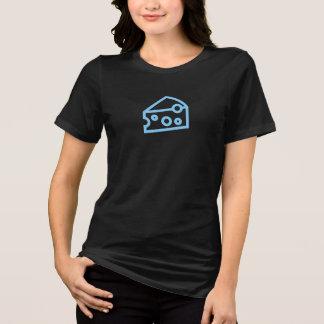 T-shirt Chemise simple d'icône de fromage bleu