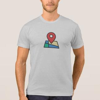 T-shirt Chemise simple d'icône de Pin d'emplacement