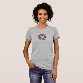 T-shirt Chemise simple d'icône de sauveteur