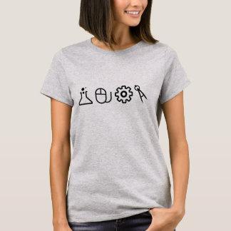 T-shirt Chemise simple d'icône de TIGE