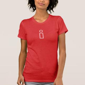 T-shirt Chemise simple d'icône d'information de rose