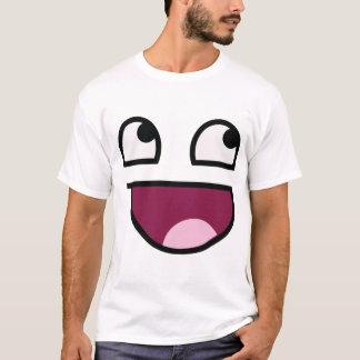 T-shirt Chemise souriante impressionnante de visage
