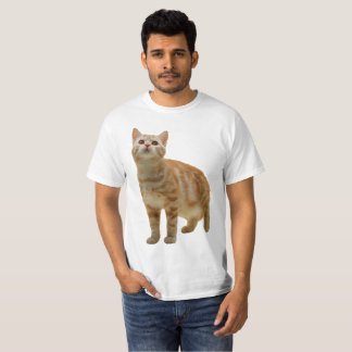 T-shirt Chemise tigrée orange de chaton
