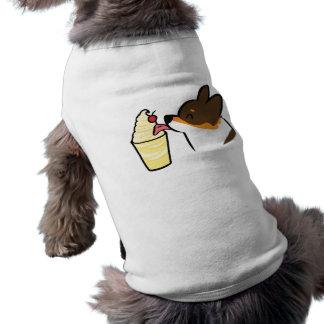 T-shirt Chemise tricolore de chien de fouet de Dole