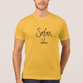 T-shirt Chemise unique de safari de la Zambie - édition