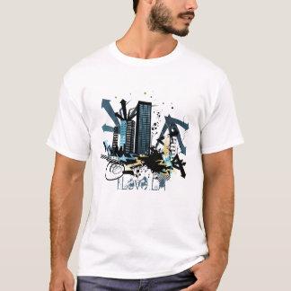 """T-shirt Chemise urbaine de graffiti de ville """"j'aime la LA"""