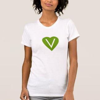 T-shirt Chemise végétalienne de coeur